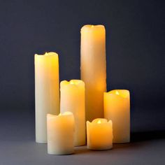 Natural Melted-Edge Drip Slim Flameless Pillar Candles, Set of 6 by LampLust Luminara Flameless Candles, Flameless Candles With Timer, Taper Candles, Candles In Fireplace, Wedding Chair Decorations, Aromatherapy Candles, Candle Set, Unity Candle, My New Room
