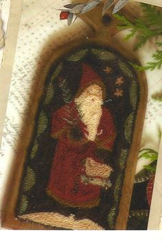 Primitive Folk Art Wool Punchneedle Cross by PrimFolkArtShop, $17.50