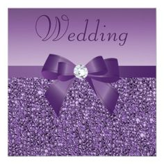 Shop Purple Printed Sequins Bow & Diamond Bridal Shower Invitation created by AJ_Graphics. Personalize it with photos & text or purchase as is! Purple Bachelorette Party, Glitter Wedding Invitations, Bachelorette Party Invitations, Sweet 16 Invitations, Quinceanera Invitations, Engagement Party Invitations, Bridal Shower Invitations, Invites, Modern Invitations