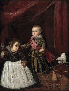 'El príncipe Baltasar Carlos con un enano', c. 1631 -