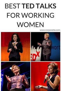TED talks are always fascinating and inspiring -- but which are best for professional women? We rounded up some of the best TED talks for working women. Best Ted Talks, Ted Talks Video, Women In Leadership, Ted Talks Leadership, Marca Personal, Professional Women, Working Woman, Career Advice, Business Women