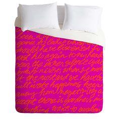 Steven Scott Poeme In Pink Duvet Cover | DENY Designs Home Accessories