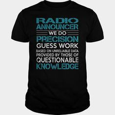 Awesome Tee For Radio Announcer
