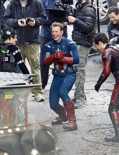 this is from the filming of avengers 4 as far as i know?? which Means  a lot of things  cap not freaking dying for one