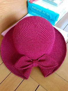 Diy Crafts - colorful cap hook - crafts ideas - crafts for kids - Her Crochet Crochet Summer Hats, Crochet Diy, Crochet Hats, Sombrero A Crochet, Knitting Patterns, Crochet Patterns, Diy Hat, Crochet Accessories, Crochet Projects
