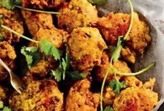 Spicy veggie chilli bites with achar dip Easy Weekday Meals, Party Finger Foods, Fresh Coriander, 4 Ingredients, Pork Chops, Tray Bakes, Cooking Time, Dip, Spicy