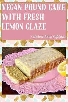 Gluten Free Pound Cake, Pound Cake Recipes, My Recipes, Vegan Butter, Cake Batter, Serving Plates, How To Make Cake, Vegan Gluten Free, Yummy Treats