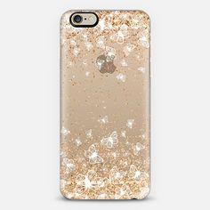 White Butterflies and Gold Sparkles Burst iPhone 6 Case by Organic Saturation | Casetify. Get $10 off using code: 53ZPEA