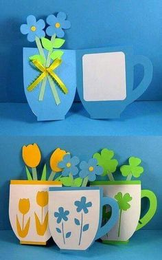 You are in the right place about simple Mothers Day Crafts for Kids Here we offer you the most beaut Mothers Day Crafts For Kids, Mothers Day Cards, Diy For Kids, Diy And Crafts, Arts And Crafts, Paper Crafts, Mother's Day Diy, Spring Crafts, Flower Crafts