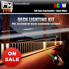 smart rgb led deck lighting kit famousmods com rigid aluminum led