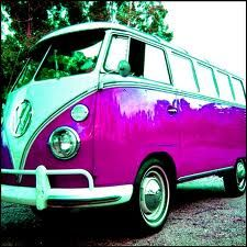 pink volkswagen bus - Google Search