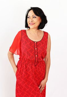 Red Attachable Flutter Sleeves