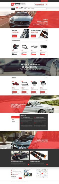 Car Spare Parts Online Store #WooCommerce #template. #themes #business…: