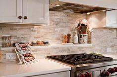 kitchen remodel ideas white cabinets stone tile backsplash under cabinet lighting