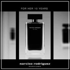 """It had to be a scent that was unique, something that celebrated women, their beauty, both their strength and their vulnerability"". Narciso Rodriguez. #ForHer #10Years #LimitedEdition"