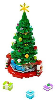 LEGO 40338 Limited Edition Christmas Tree Exclusive Holiday Promotion New Lego Christmas Ornaments, Lego Christmas Village, Lego Winter Village, Cool Christmas Trees, Christmas Snowman, Christmas Events, Holidays And Events, Christmas Holidays, Christmas Thoughts