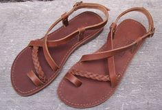 Handmade Sandals from genuine leather. by SocratesSandals on Etsy