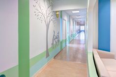 View full picture gallery of Toronto Sick Kids Children Hospital Boomerang Health Centre Healthcare Architecture, Healthcare Design, Medical Office Design, Office Interior Design, Children's Clinic, Kindergarten Design, Hospital Design, Clinic Design, Sick Kids