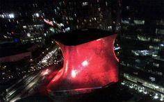 Museo Soumaya se ilumina de rojo en la lucha contra el sida