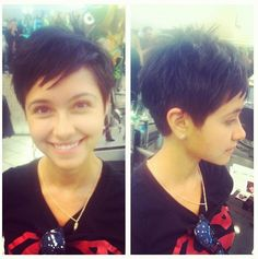 #VisibleChanges stylists chops to create this Pixie cut! #TexasSalon