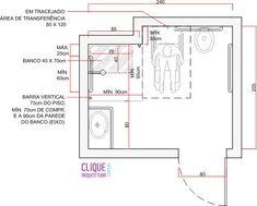 planta banheiro para cadeirante - Pesquisa Google