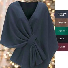 Inspiration - Tuck Shawl, lined rectangle with top stitched loop.