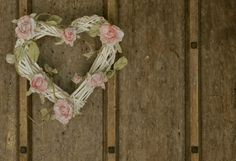 wicker hearts with flowers for pew ends - Google Search