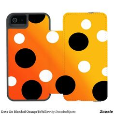 Dots On Blended OrangeToYellow Incipio Watson™ iPhone 5 Wallet Case