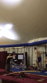 FANTASTIC little Gif of some acrobats practicing their tricks. Click back and watch... these guys are great!!