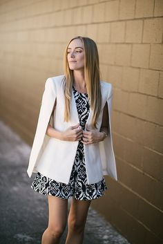Black and white holiday ensemble. Keeping it simple is sometimes the best thing to do. No fuss, no mess.