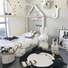 what a lovely little boy's room ♡ Miffy lamp available online