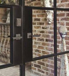LET'S STAY: Industrial Steel-framed French doors || Metal Frame Droos