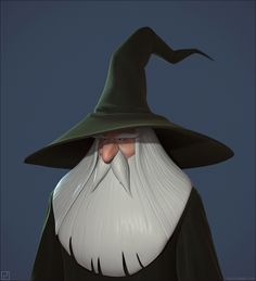 Old Wizard 3d-model by Polycount-user Juju.