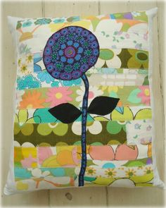 lolly flower cushion cover