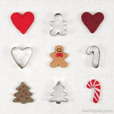 Needle Felted Cookie Cutter Ornaments