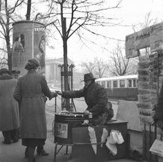 Maronibrater auf der Ringstraße 1936 Archiv Österreichische Nationalbibliothek