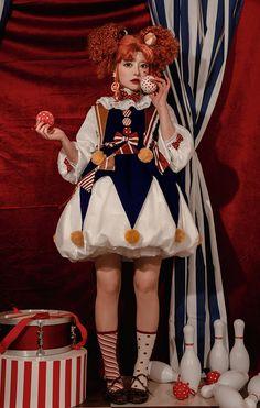 Kawaii Fashion, Lolita Fashion, Cute Fashion, Poses, Es Der Clown, Cute Clown, Pose Reference Photo, Drawing Clothes, Lookbook