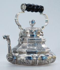 Teapot, 1720, Sweden, Silver. Hallwylska museet
