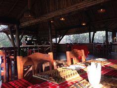 Breakfast at luxury tented lodge