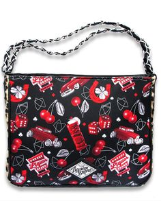Liquor Brand Damen CHERRY GARAGE Handtasche/Bags.Tattoo,Pin up,Biker Style
