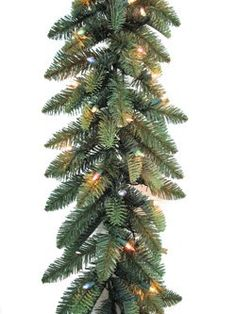 "$39.99-$49.99 Just Cut Frasier Fir Pre-Lit Artificial Christmas Branch Garland Composed of PE and PVC By General Electric for Santa's Best Item number 06997 Features 250 molded 1.75"" cone tips  50 GE 6mm Constant-ON 200mA Multi-Color lights.   9 Feet Long x 10 Inches Wide Realistic color and feel Natural looking green needles with brown center UL listed for indoor/outdoor use Green cord set with ..."