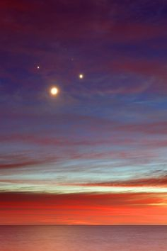 The Moon, Venus, Jupiter and Aldebaran   making a square in the sky just before sunrise.