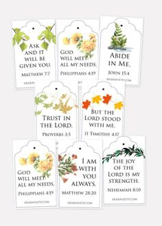 Remember God's faithfulness with these Scripture tea tag printables. Use these tea tags to celebrate God's promises and ignite hope in your heart. Tea Tag, Tea Party Favors, Printable Tags, Printable Paper, Tea Sandwiches, Christmas Tea, Gift Tags, Paper Crafts, Women's Ministry