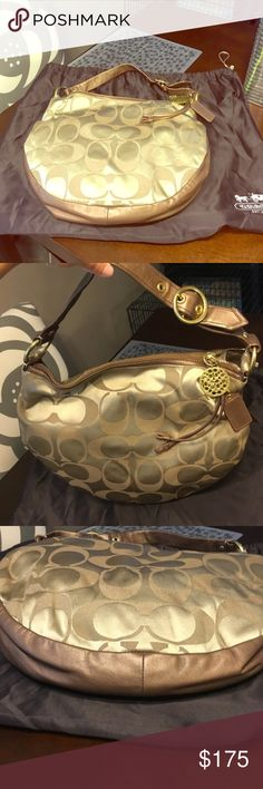 Authentic large coach hobo NWOT! No signs of wear or tear. No trades and all sales are final. Includes dust bag. Coach Bags Hobos