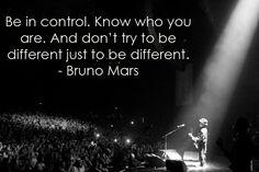 Be Different {Bruno Mars} ~ Bruno Mars Quotes ~
