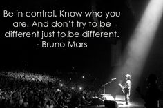 Be Different {Bruno Mars}