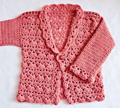 (4) Name: 'Crocheting : Harriet Lace Cardigan