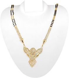 Imitation Gold Plated Long Traditional Mangalsutra Necklace / AZMNGT015-GCL Arras Creations http://www.amazon.com/dp/B00L3XXOD8/ref=cm_sw_r_pi_dp_yj-qub1XTED2S