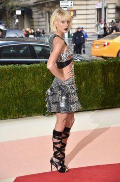 "fashion: "" @taylorswift at the Met Gala in Louis Vuitton. """
