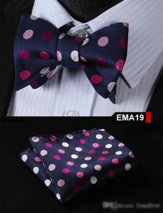 Blue, Pink, Red Floral 100% Silk Butterfly Tie Self Tie Bow Tie Pocket Square Bow tie Set
